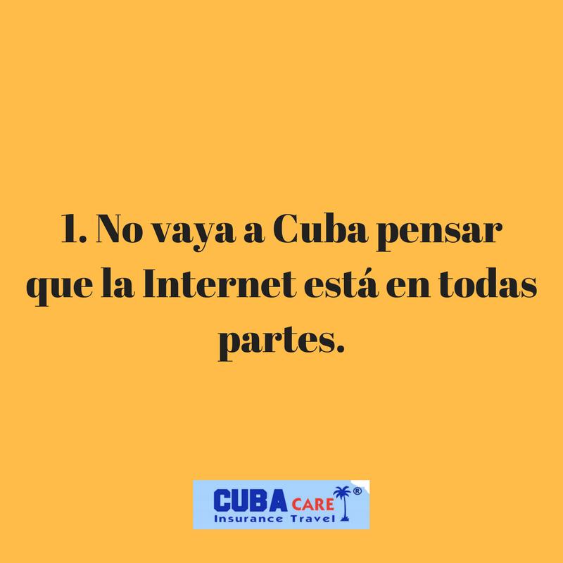 Consejos para viajar a Cuba: no vaya a Cuba pensar  que la Internet está en todas partes
