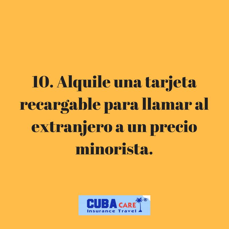 Consejos para viajar a Cuba: alquile una tarjeta recargable para llamar al extranjero a un precio minorista