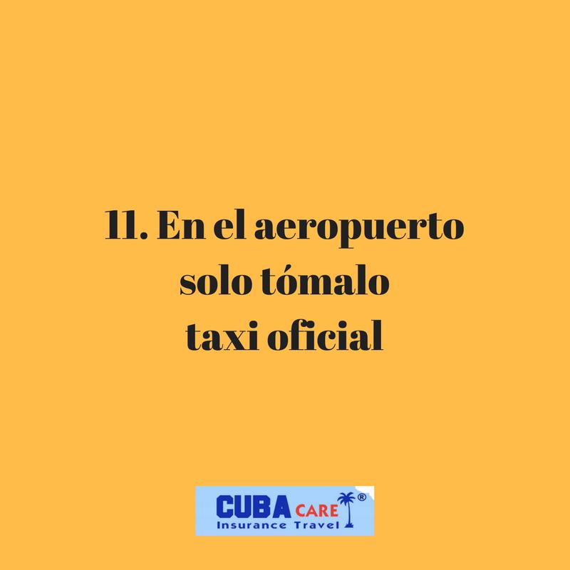 Consejos para viajar a Cuba: en el aeropuerto solo tómalo taxi oficial