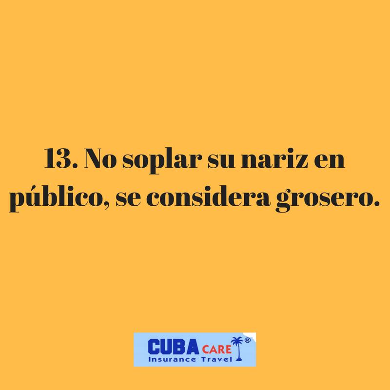 Consejos para viajar a Cuba: no soplar su nariz en público, se considera grosero