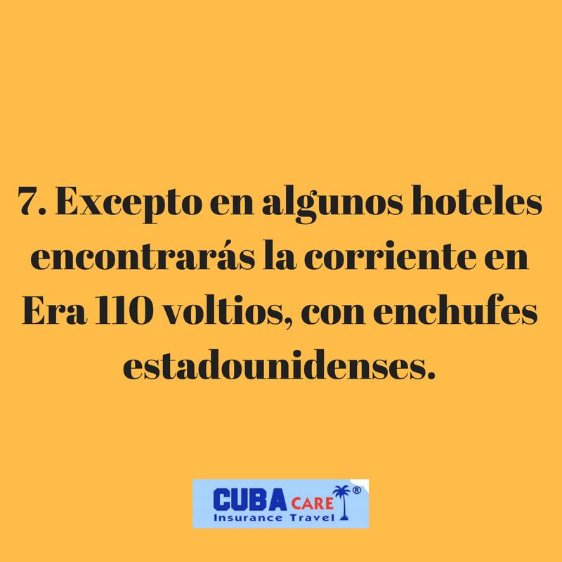 Consejos para viajar a Cuba: excepto en algunos hoteles encontrarás la corriente en Era 110 voltios, con enchufes estadounidenses